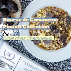Bourse de Commerce Pinault Collection & Diner à Champeaux